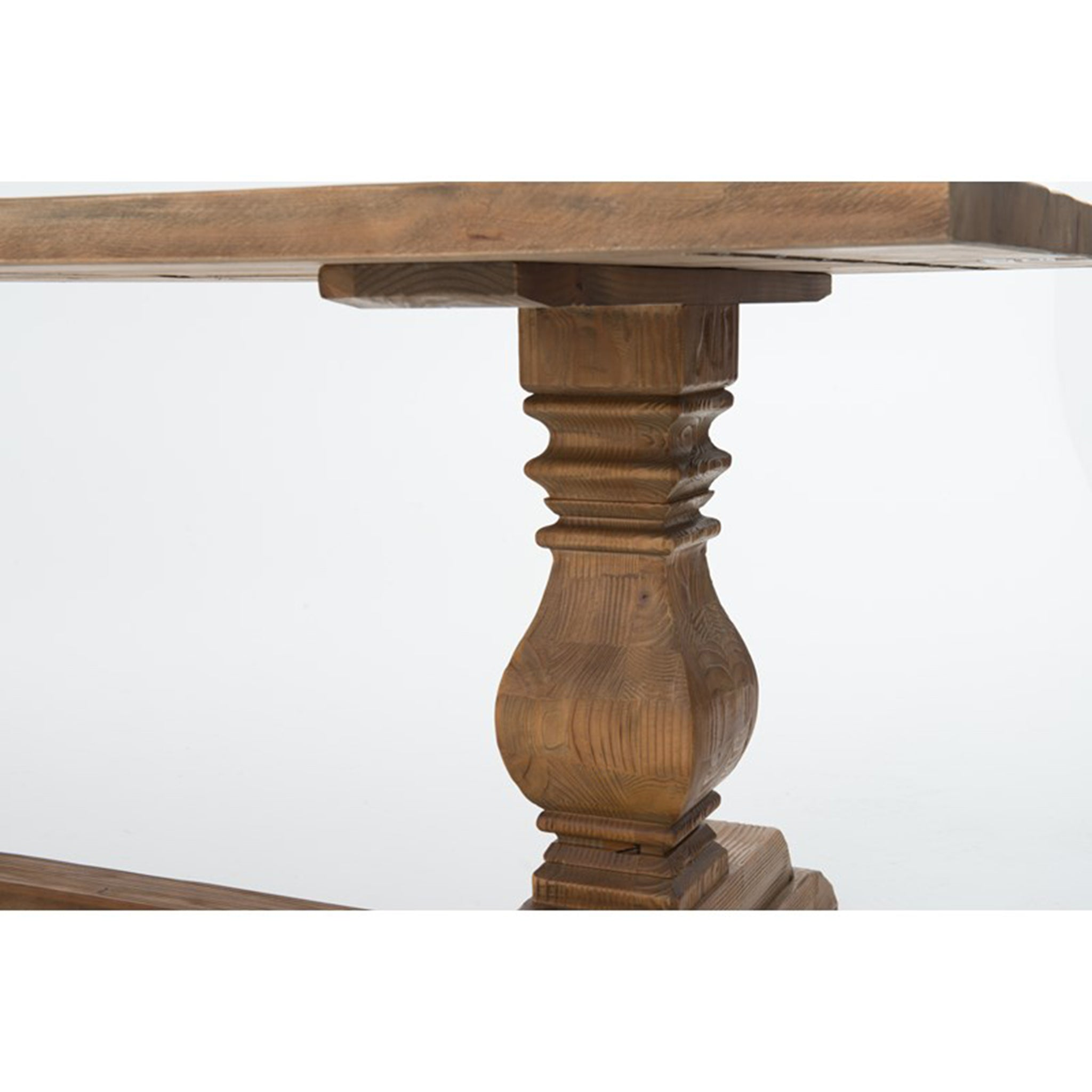 Trestle Leg Reclaimed Rectangular Dining Table