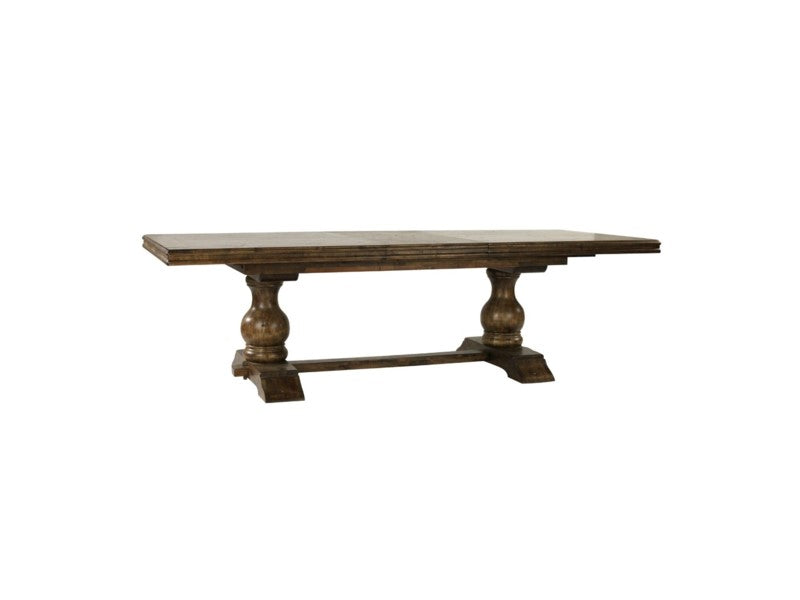"Tuscany Rectangular Dining Table  84"" - 128"" Earth Finish"