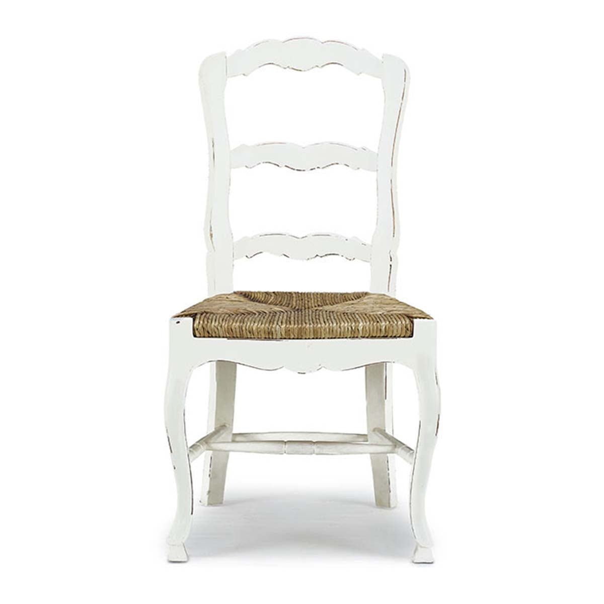 French Country Ladderback Dining Chair Set of 4 White - Furniture on Main