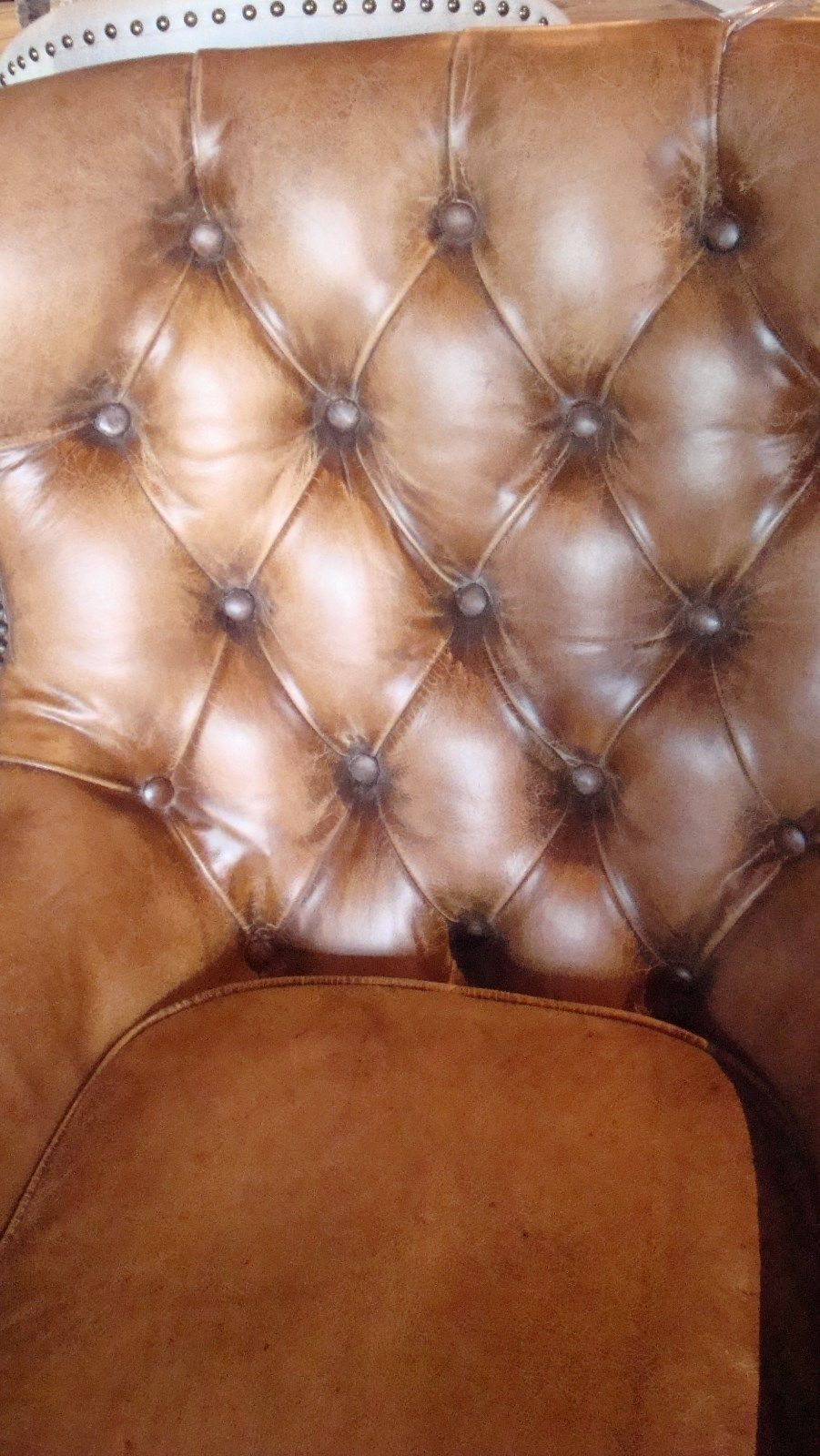 Antique Buffalo Leather Chair
