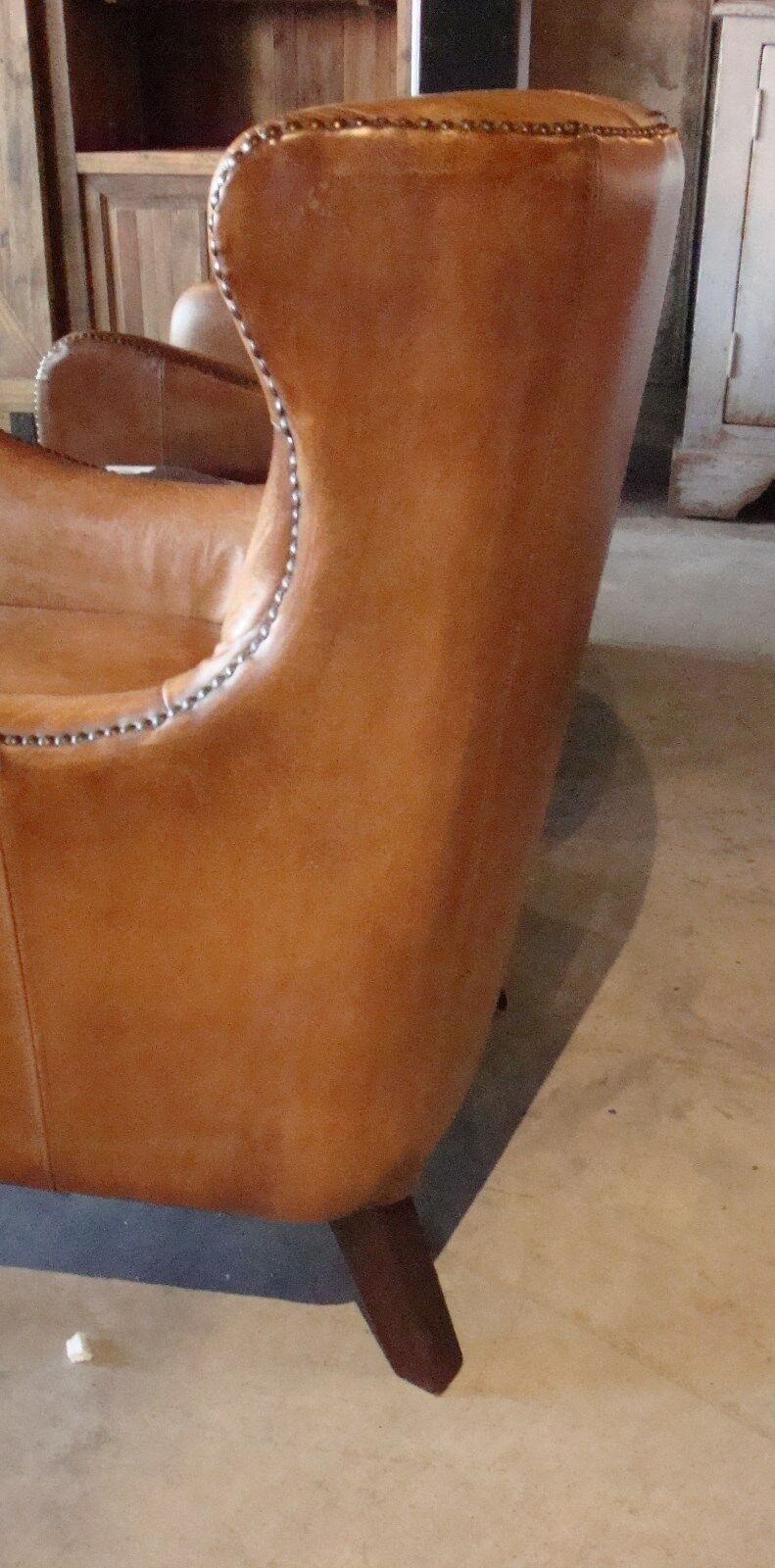 Antique Buffalo Leather Chair - Furniture on Main