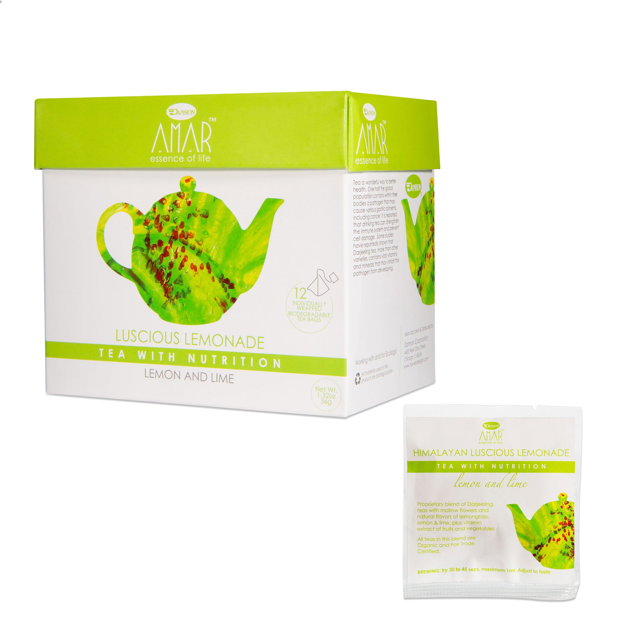 AMAR LUSCIOUS LEMONADE Green Tea Lemon & Lime