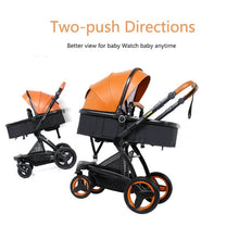 Load image into Gallery viewer, Luxury PU Baby Prams 3 in 1 Stroller Travel System