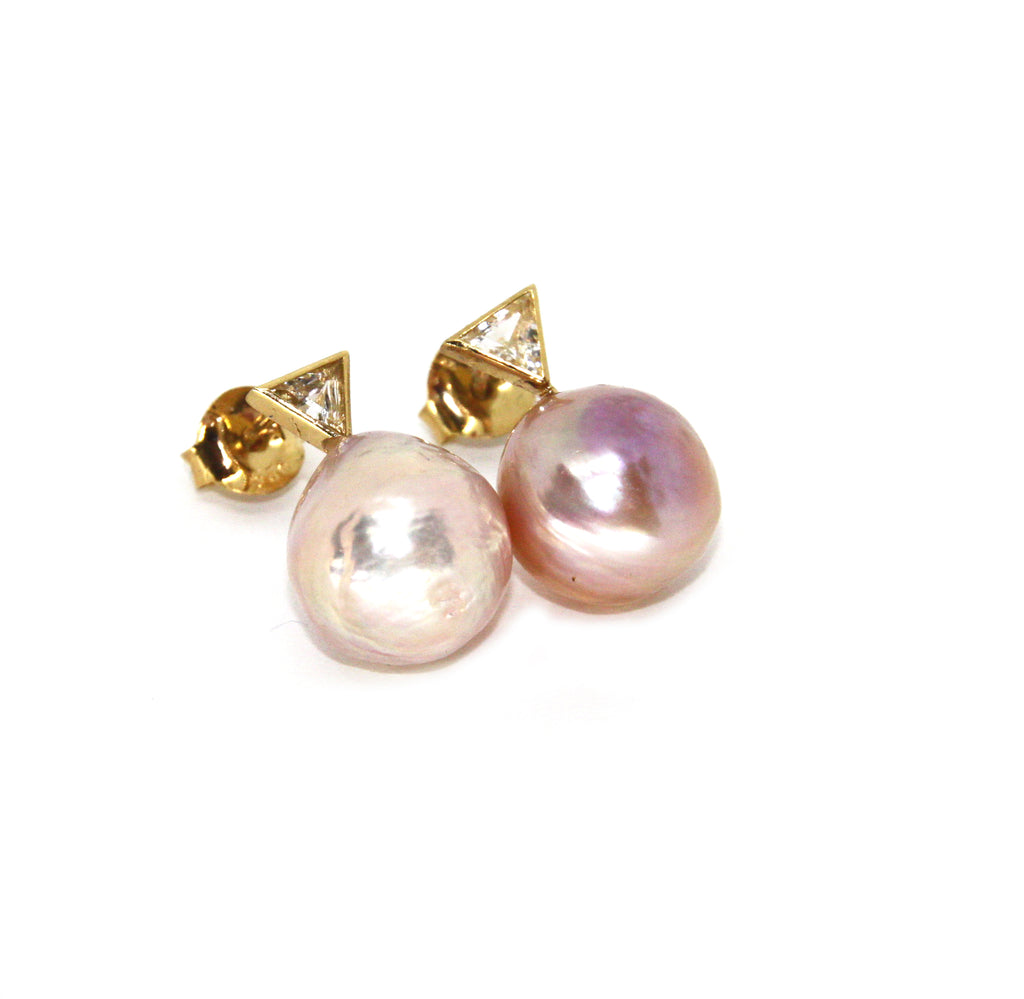 Hanalei Earrings w. Freshwater Pearl