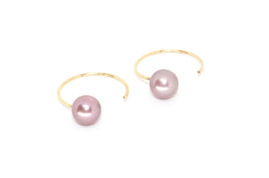 Lani Threaders w. Freshwater Pearl