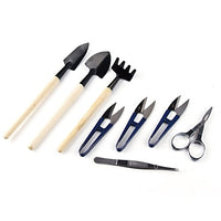 8Pcs Bonsai Set  - Include Pruner Fold Scissors Mini Rake Bud & Leaf Trimmer - AsitiGift