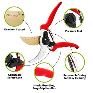 Professional Pruning Shears with Titanium Coated Blades - AsitiGift