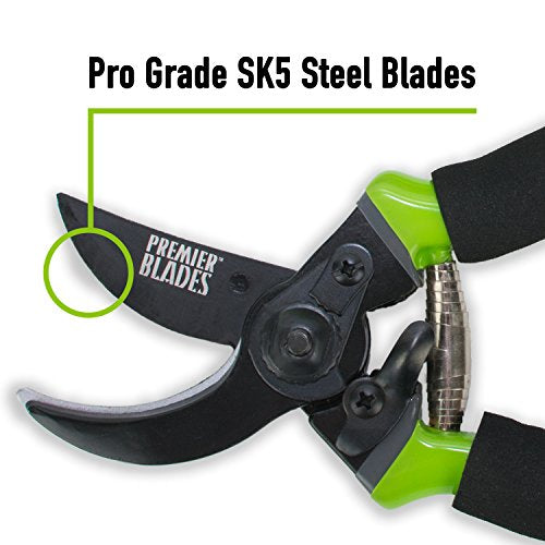 "8.5"" Garden Pruning Shears Ergonomic Soft Cushion Grip - AsitiGift"