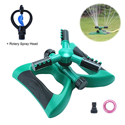 Automatic 360° Rotating Adjustable Garden Water Sprinklers - AsitiGift