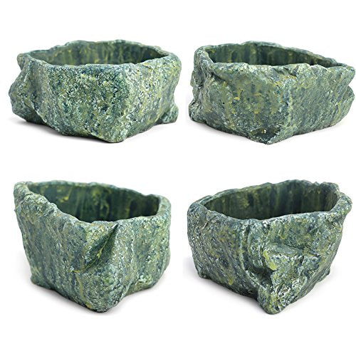 Natural Elements Rock Planter Blue Lagoon - AsitiGift