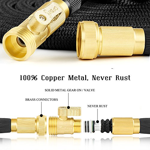 25 foot Black Extra Strength Stretch Material with Brass Connectors - AsitiGift