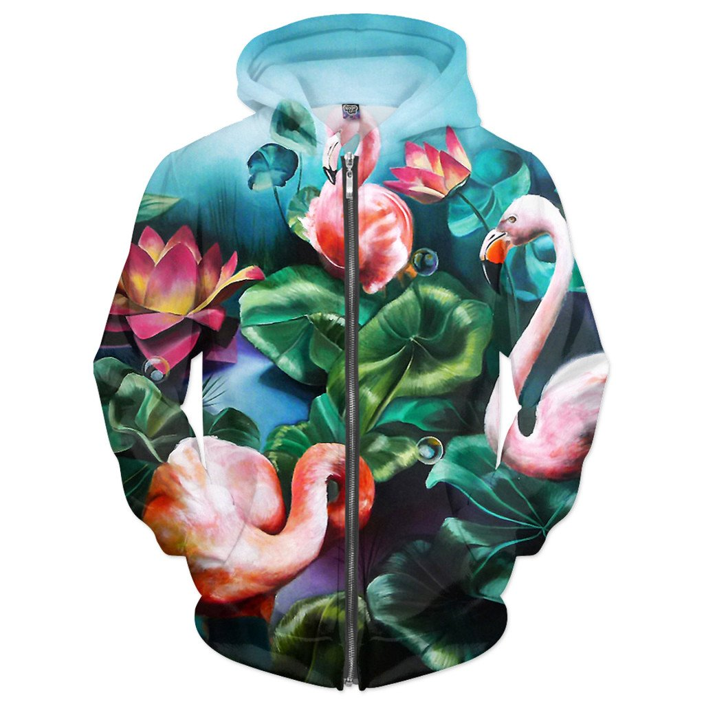 Flowers Zip-Up Hoodie - AsitiGift