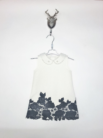 Doe a Deer - Black & White Dress