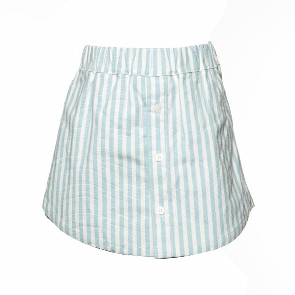Doe a Deer - White & Blue Girls Skort Set