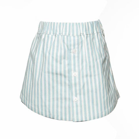 Image of Doe a Deer - White & Blue Girls Skort Set
