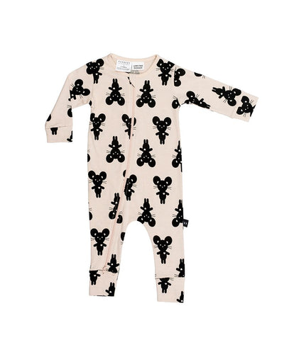 Image of Hux Baby - Mouse Zip Romper
