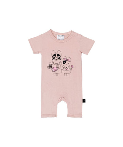 Image of HUXBABY - Hey Sister Short Romper
