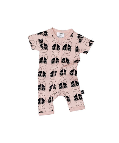 HUXBABY - French Shades Zip Romper