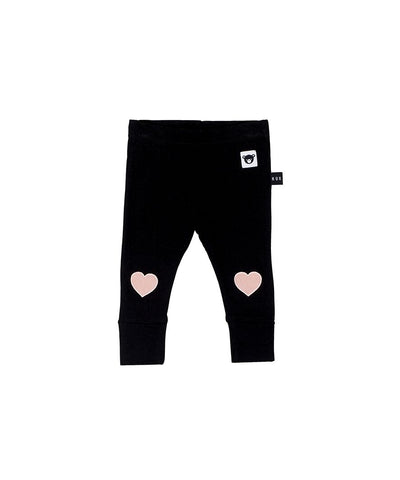 HUXBABY - Heart Applique Leggings