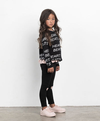 Image of HUXBABY - Heart Applique Leggings
