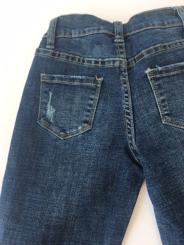 Image of Vintage Havana - Skinny Distressed Jeans With Frayed Hem