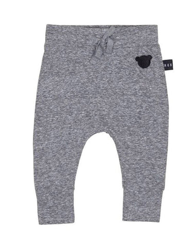 Image of HUX- CHARCOAL SLUB DROP CROTCH PANT