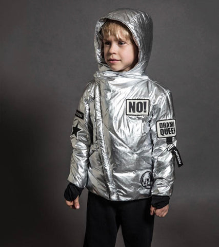 Image of NUNUNU SILVER SUPER PATCH DOWN JACKET