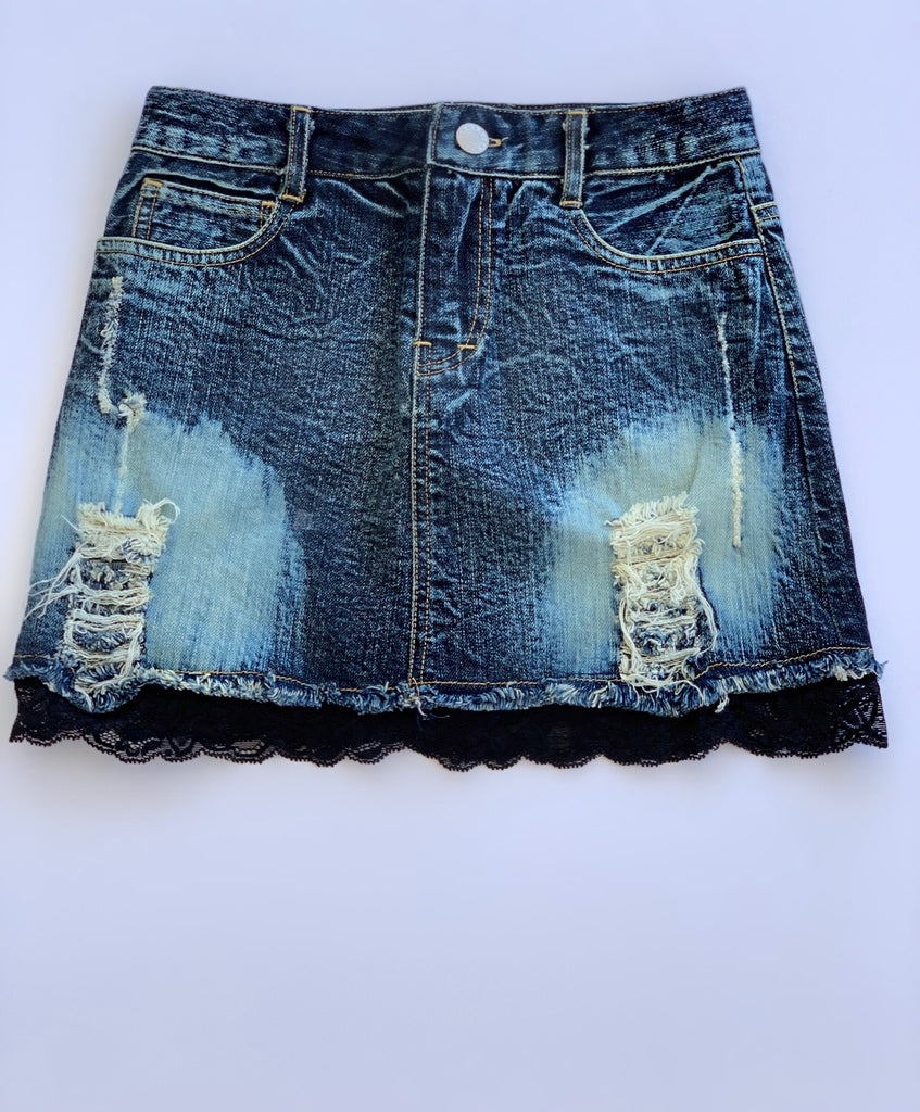 Flowers by Zoe - Distressed Denim Skirt