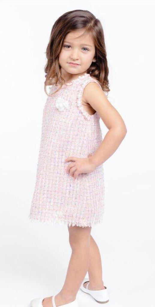 Doe a Deer - Tweed Pearl Dress