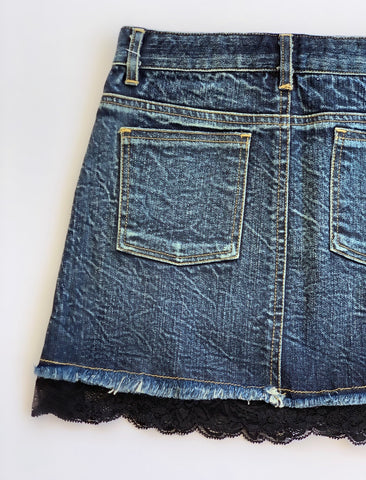 Image of Flowers by Zoe - Distressed Denim Skirt