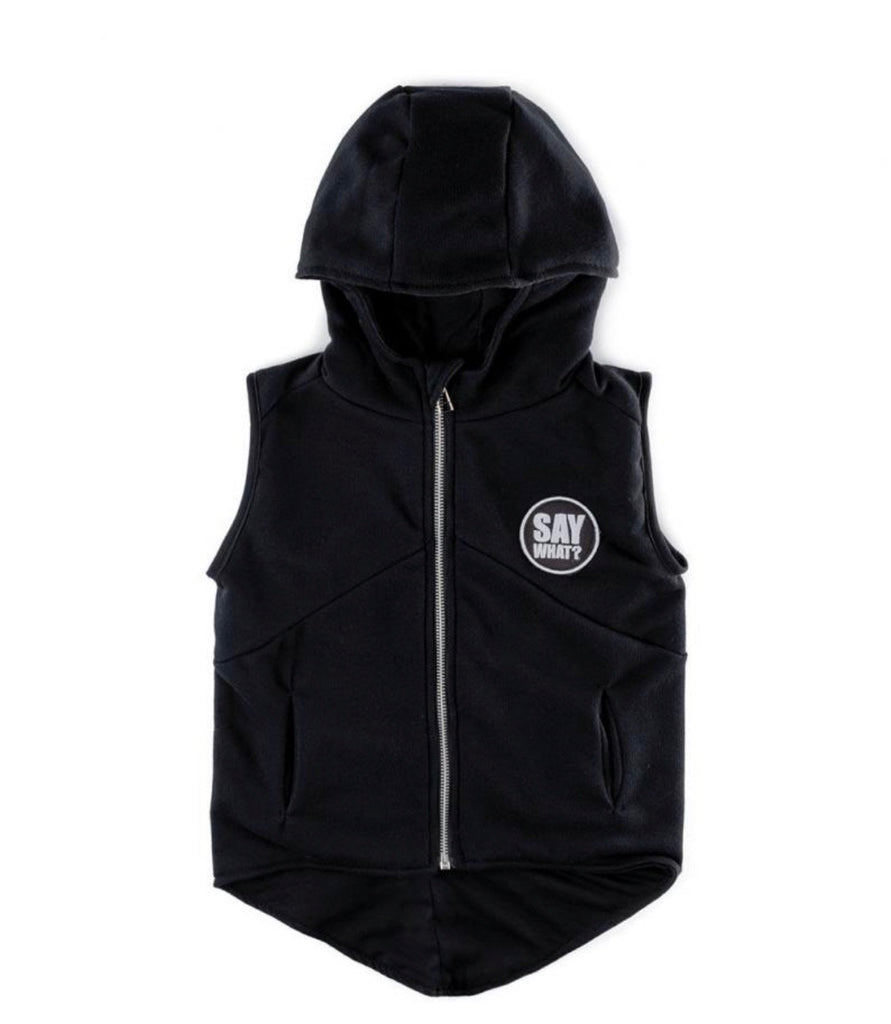NUNUNU - HOODED VEST BLACK