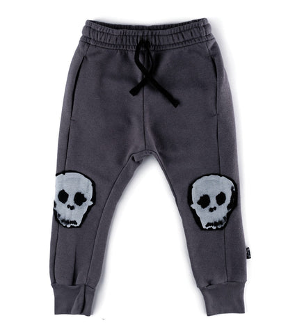 NUNUNU - Water Skull Patch Baggy Pants