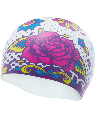 TYR FLOWER POWER SWIM CAP