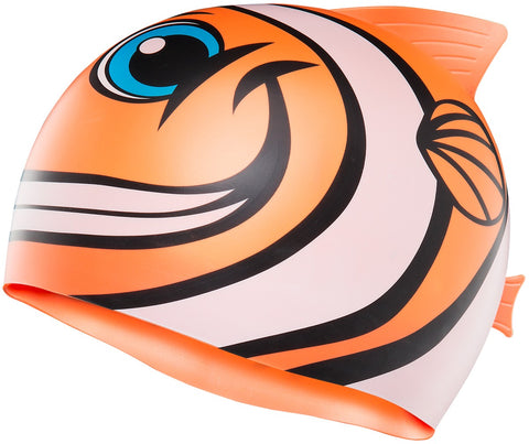 TYR KIDS' CHARACTYR HAPPY FISH SWIM CAP