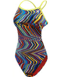 TYR WOMEN'S GLITCH CROSSCUTFIT TIEBACK SWIMSUIT