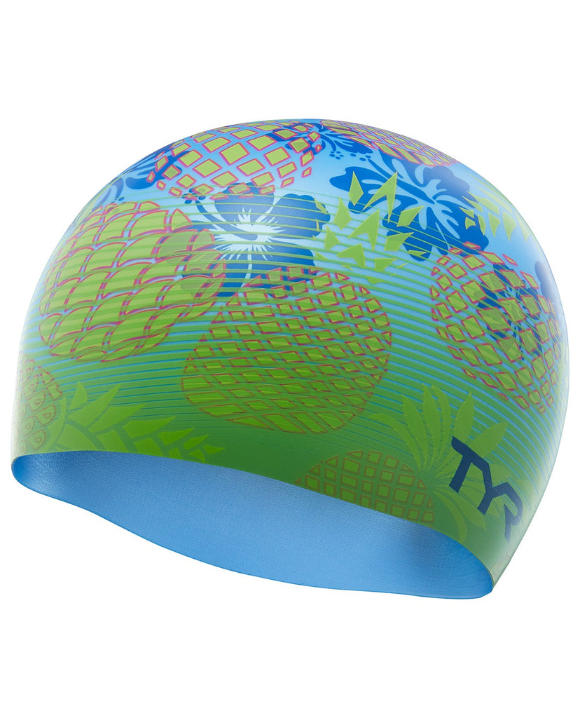 7f46dd2e703ee TYR PINEAPPLE FADE SILICONE ADULT SWIM CAP – Serious Swimming
