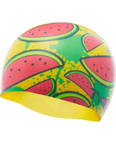 TYR WATERMELON SWIM SILICONE ADULT SWIM CAP