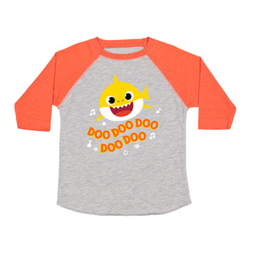 Baby Shark Live! - Doo Doo Doo - Orange / Heather Kids Raglan