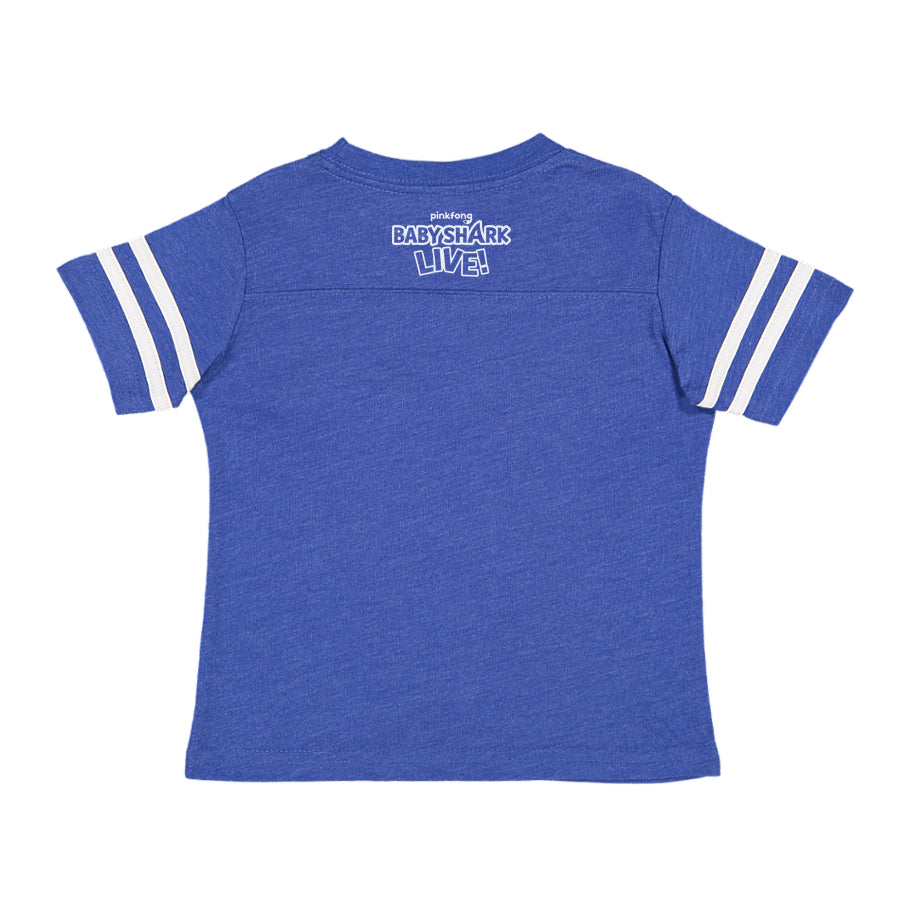 Baby Shark Live! - Circle Logo - Blue Kids Football Tee