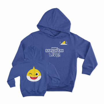Baby Shark Live! - Baby Wink - Heather Royal Blue Toddler Hoodie