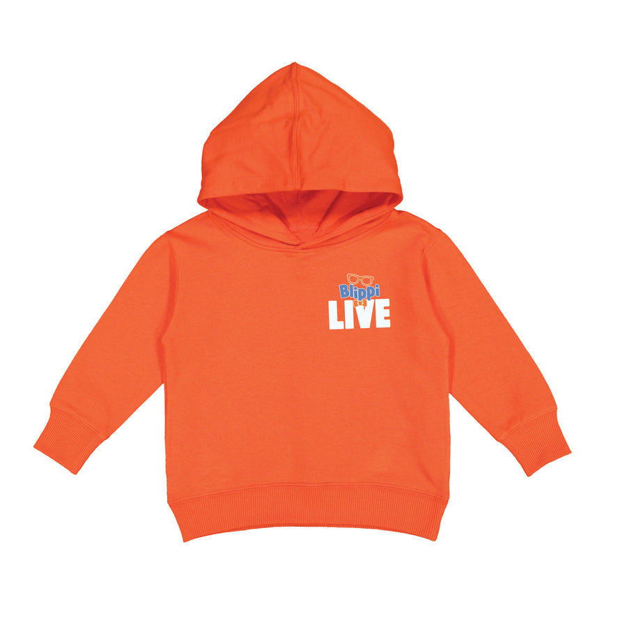 Blippi Live! - Tour - Orange Toddler Pullover Hoodie