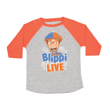 Blippi Live! - Tour - Orange / Heather Kids Raglan