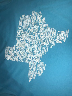 Texas Colleges V-Neck Turquoise