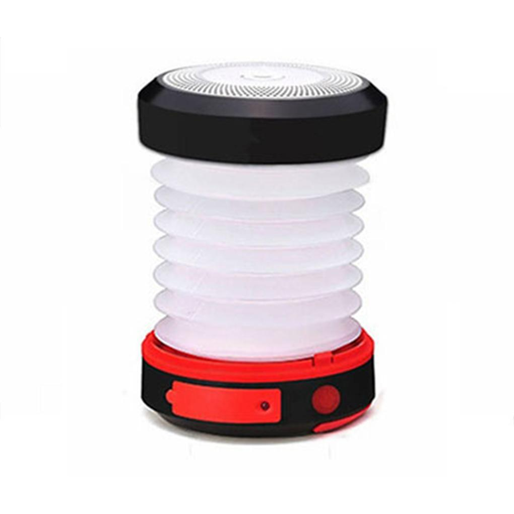 new Solar Powered Foldable Hand Lamp Collapsible Camping Lantern Outdoor USB Rechargeable Tent Lights