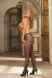Barcelona Fishnet Tights With Back Seam  | BigSmalls™