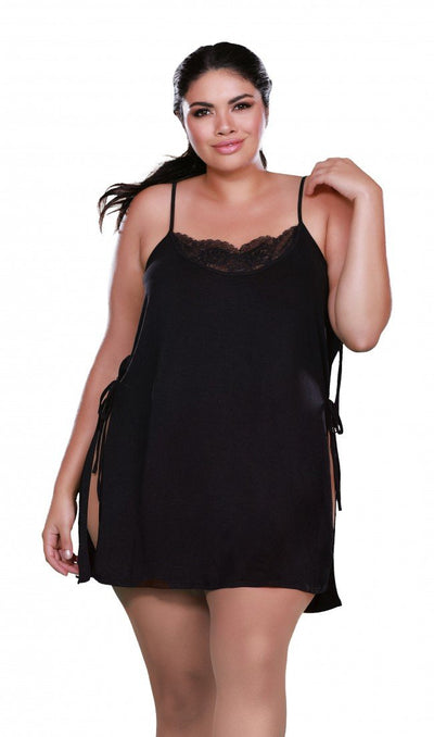 Plus Size Soft Spandex Jersey Toga Chemise