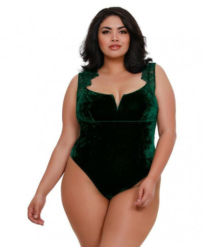 Plus Size Evergreen Soft Stretch Velvet Teddy
