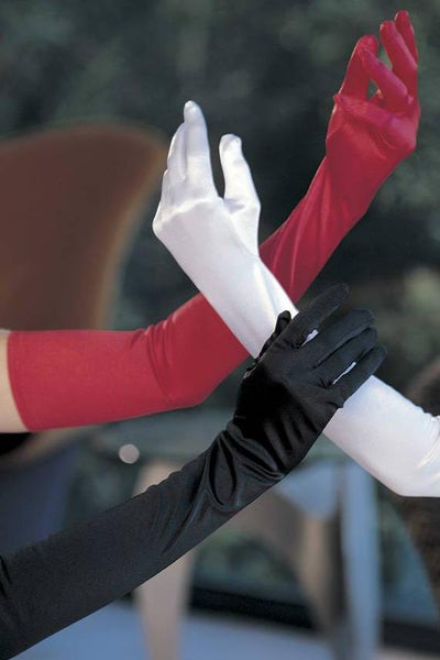 Long Satin Spandex Gloves   | BigSmalls™