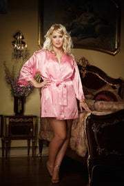 Silky Babydoll With Robe (Pink)  | BigSmalls™