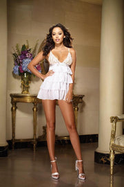 Ruffle Babydoll With Scalloped Stretch Lace Cups (1X/2X)